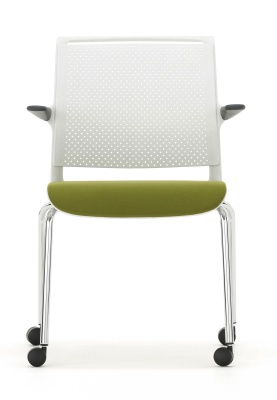 Ad Linb Conference Chair With Arms And Upholstered Seat Front Vioew
