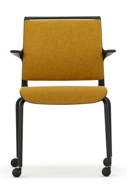 Ad Lib Mobile Fully Uphiolstered Arm Chair
