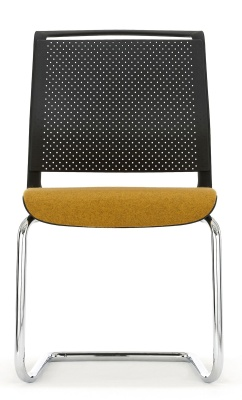Ad Lib Conference Chair With A An Upholstered Seat Front View