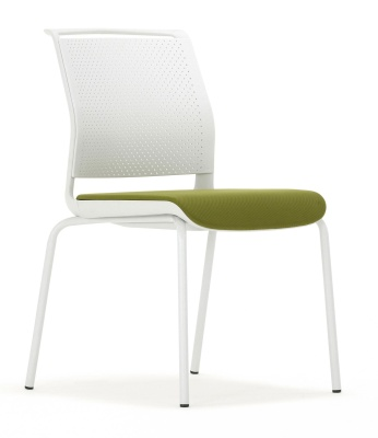 Ad Lib Conference Chair Front Angle With An Upholstered Seat