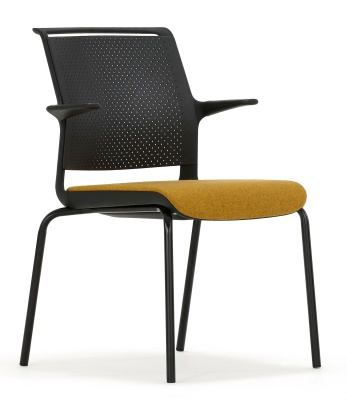 Ad Lib Conference Garm Chair With An Upholstered Seat Front Angle