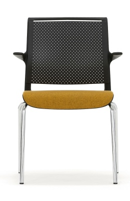 Ad Lib Conference Arm Chair With An Upholsteredc Seat Front View