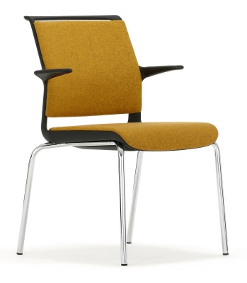 Adliob Conference Arm Chair Front Angle Chrome Legs