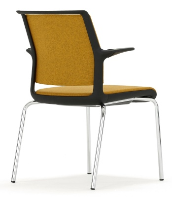 Ad Lib Fully Upholstered Conference Arm Chair Rear View Shot
