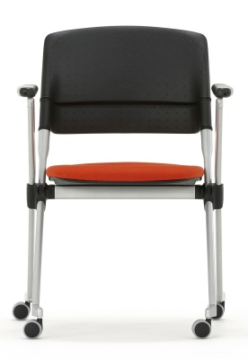 Pyramid Mobile Chair Front Facing With Castirs