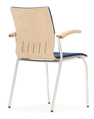 Isis Upholstered Seat And Back With Arms Rear Angle Shot
