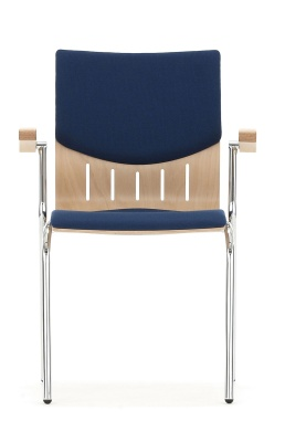 Isis With Arms Upholstered Seat And Back Face Shot