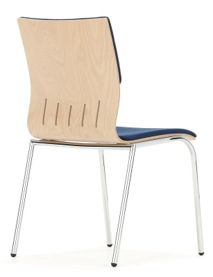Isis Conference Chair Rear View With An Upholstered Seat And Back