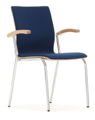 Isis Fully Upholstered Conference Chair With Arms