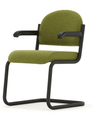 Titus Cantilever Conference Chair With Arms Front Angle