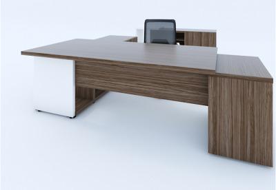 Mito Executive Desk Pedestal And Side Credenza Unit Front