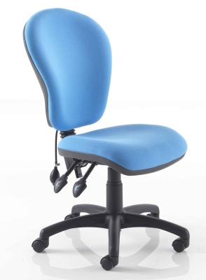 Instinctiva Chair With Lumbar Support Black Base And No Arms