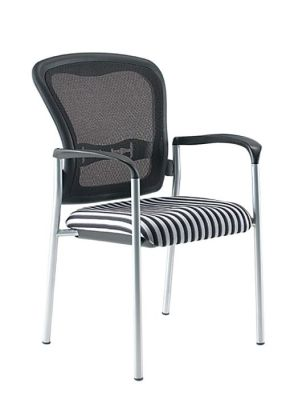 Sorianna Stylish Meeting Chair With Silver Legs And Integral Arms
