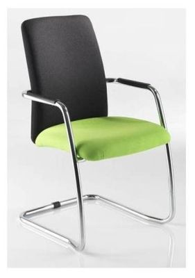 Matrix Modern Cantilever Chair With Large Black Back And Green Seat