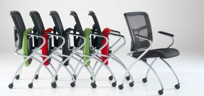 Convoy Nesting Meeting Chairs With Flip Up Seats For Easy Storage