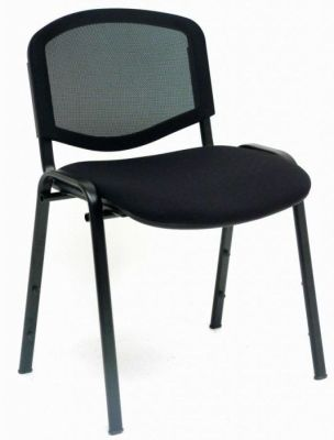 CP Stackable Classroom Chair With Mesh Back And Black Fabric Seat