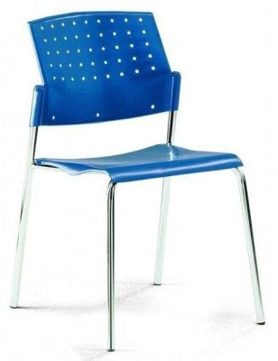 Movie Dark Blue Meeting Chair With Ergonomic Shaped Back