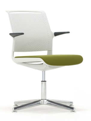 Adlib Four Star Conference Arm Chair With An Upholstered Seat Front Angle