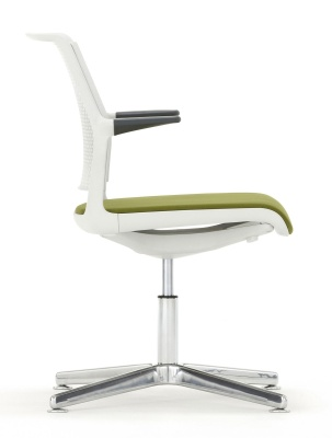 Adlib Four Str Conference Arm Chair With An Upholstered Seat Side View