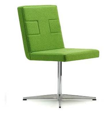 Sprite Four Star Designer Conference Chair Front Angle