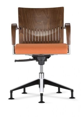 Castella Conference Chair With An Upholstered Seat Front View