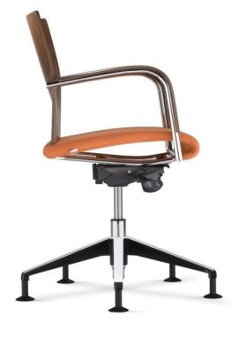 Castella Conference Swivel Chair With An Upholstered Seat Side View