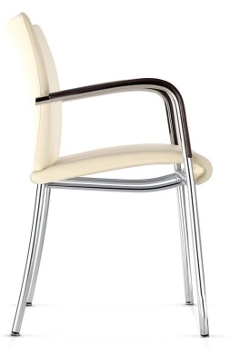 Castella Fully Upholstered Four Leg Arm Chair Side View
