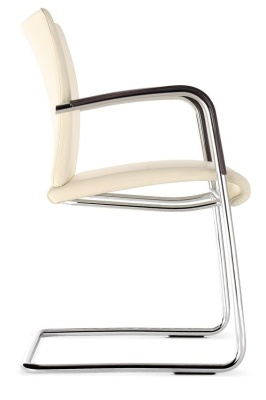 Castella Cantilever Conference Chair Fully Upholstered Side View
