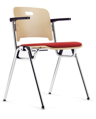 Stato Conference Arm Chair With An Upholstered Seat