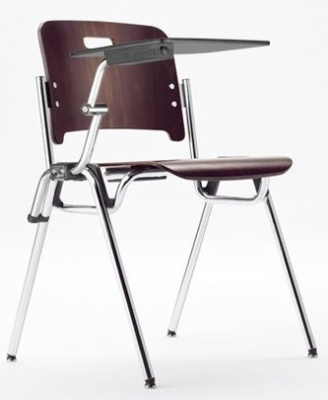 Stato Plywood Chair With Writing Tablet