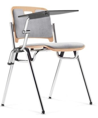 Stato Tablet Chair With An Upolstered Seat And Back 2