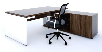 Mito Executive Desk And Credenza 1