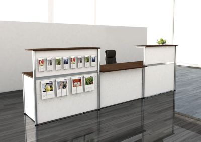 Genua Plus Straight Reception Desks White Fron Wenge Desk And Counter