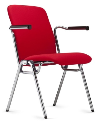 Stato High Back Fully Upholstered Conference Chair Front Angle