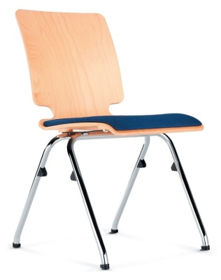 Axo Plywood Chair With An Upholstered Seat