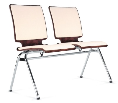 Axo Two Seater Beam With An Upholstered Seat And Back