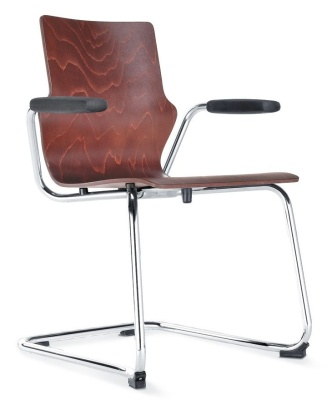 Conversa Plywood Cantilver Chair With Short Arms