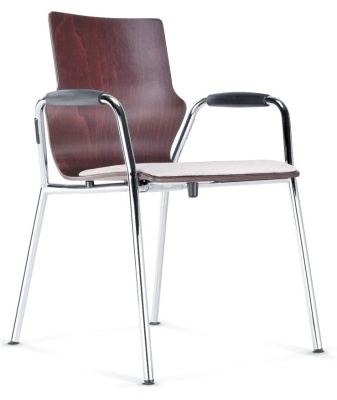 Conversa Connference Armchair With An Upholstered Seat