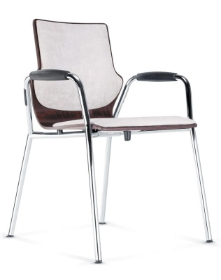Conversa Conference Armchair With An Upholstered Seat And Back And Full Arms