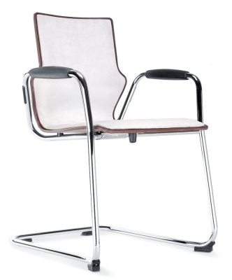 Conversa Cantilver Chair With An Upholstered Front