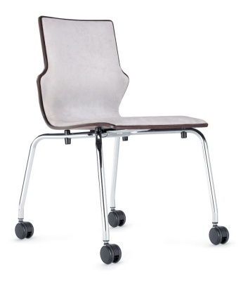 Conversa Mobile Conference Chair With An Upholstered Front