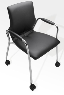 Conversa Fully Padded Miobile Conference Arm Chair From Above
