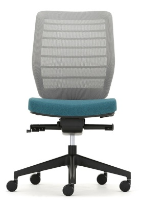 Fuse Chair Grey Mesh Front Shot