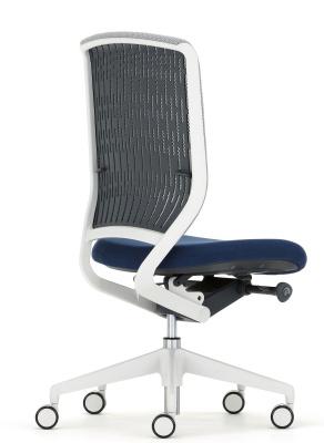 Evolve Task Chair Black Mesh Light Grey Componemets Back Angle View