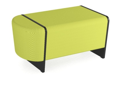 Magnes Single Seater Bench With A Curved End