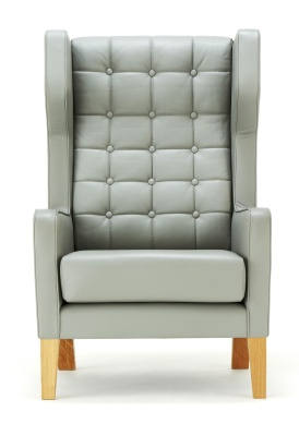 Grainger Wingback Armchair Front Facing