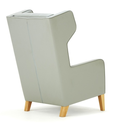 Grainger Luxury Wingback Chair Back Angle View