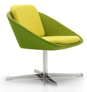 Dishy Designer Chair With A Four Star Swivel Base