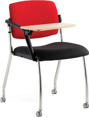 Alina Mobile Conference Side Chair With Writing Tablet