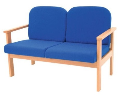 Leicester Two Seater Sofa With Arms In Blue